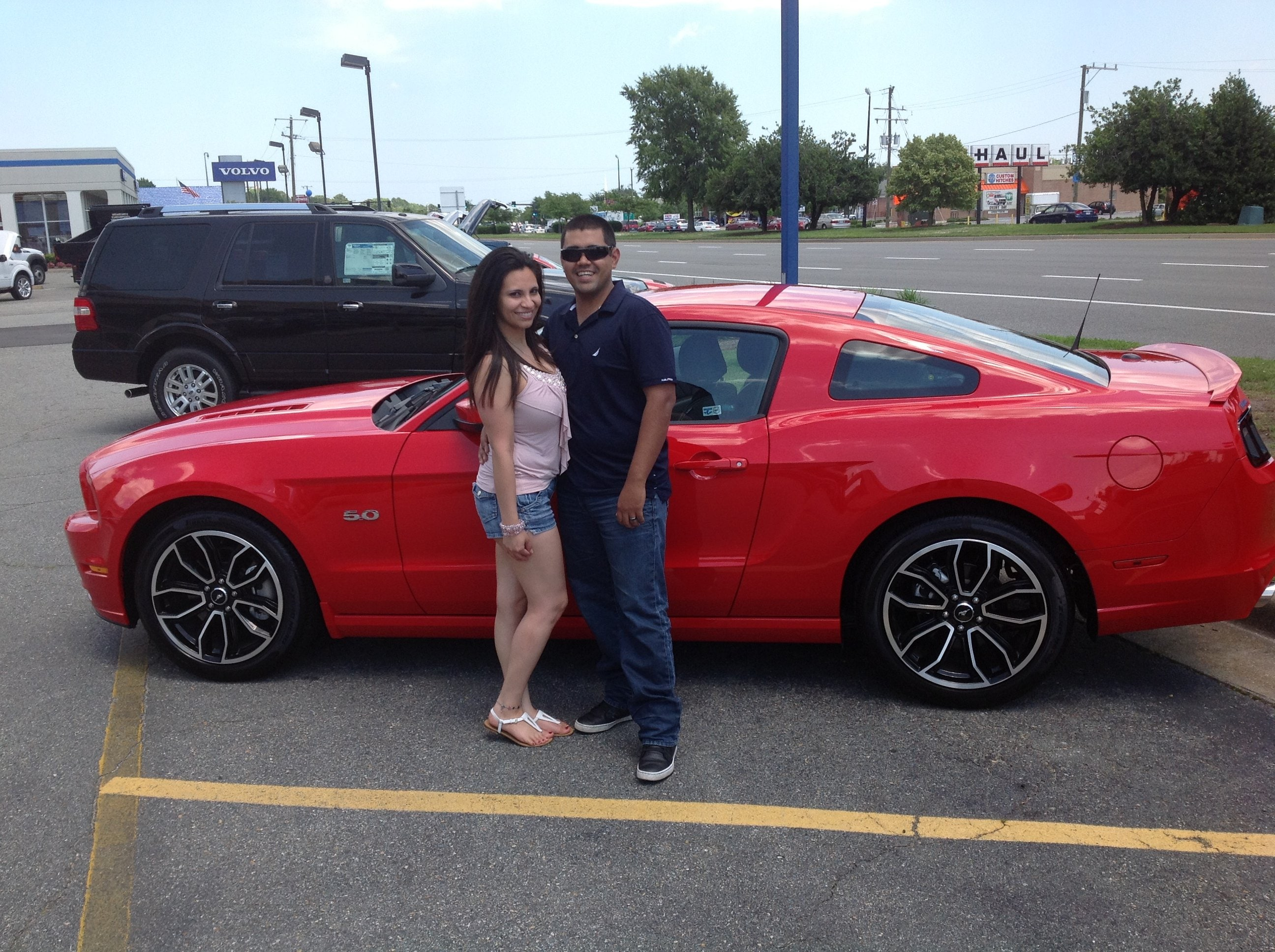Another Happy Customer with a new Ford Mustang Hampton Ford Dealership
