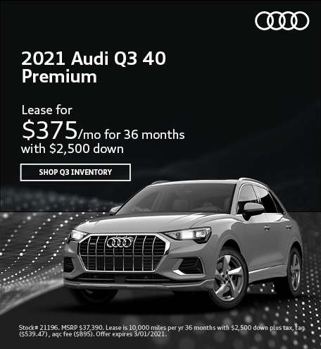 2021 Audi Q3 40 Premium- February Lease Offer