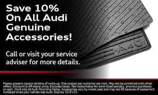 Save 10% On All Audi Genuine Accessories!