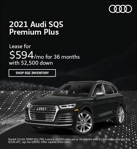 2021 Audi SQ5 Premium Plus- February Lease Offer