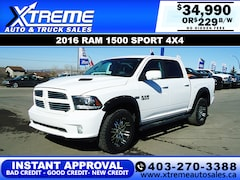 2016 Ram 1500 Sport w/Backup Cam+Aftermarket Rims Truck Crew Cab