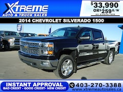 2014 Chevrolet Silverado 1500 2LT w/Leather+Backup Camera Truck Crew Cab