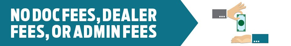 No Doc Fees, Dealer Fees, Or Admin Fees