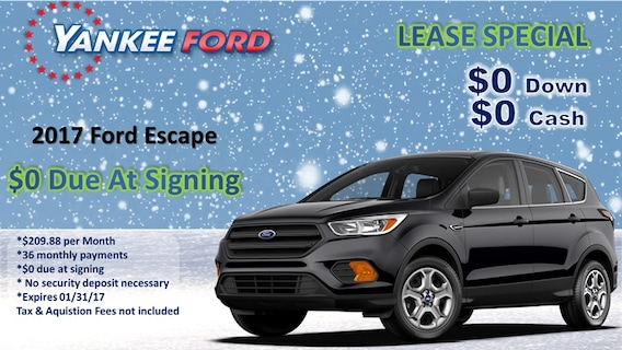 Ford Lease Deals 2017 >> Sign Drive At Yankee Ford Yankee Ford
