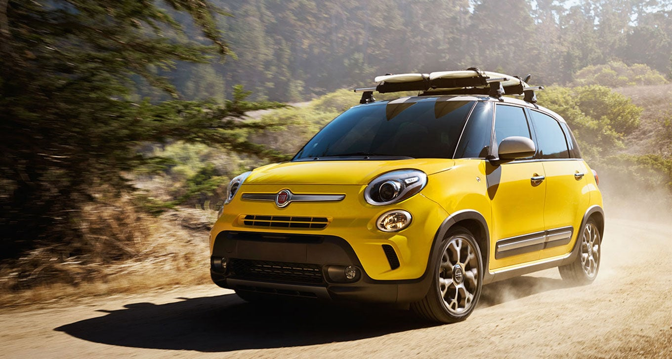2014 FIAT 500L in Yellow Off Road