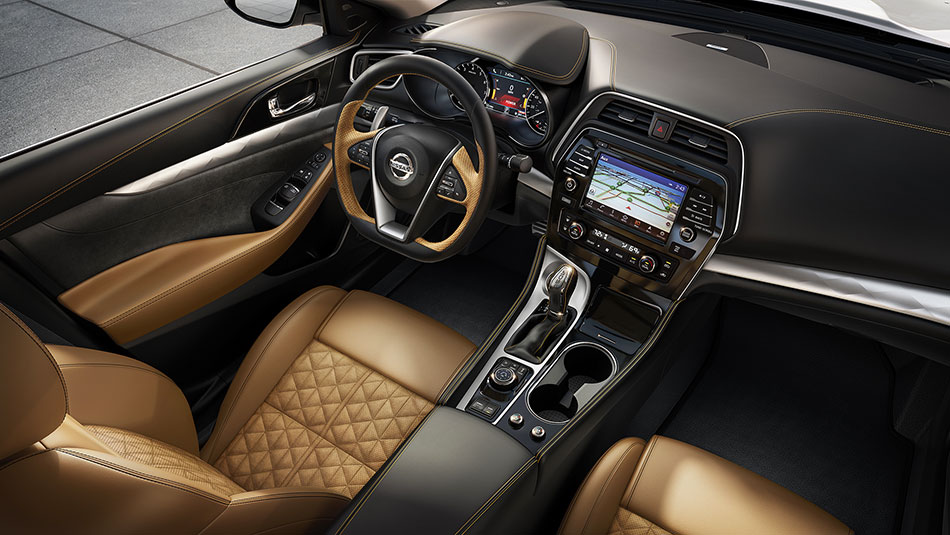 2016 Nissan Maxima Interior Camel Leather Seats
