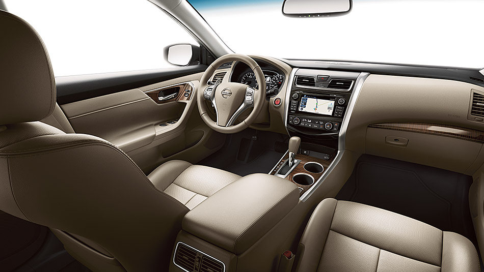 Roomy 2015 Nissan Altima Interior in Plush Leather