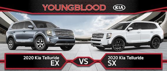2020 Kia Telluride Ex Vs Sx Key Differences Youngblood Kia