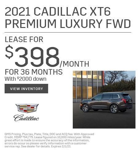 New 2021 Cadillac XT6 | Lease
