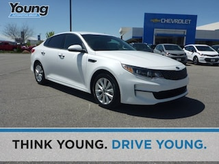 Used 2016 Kia Optima EX Sedan 5XXGU4L36GG120099 for sale in Kaysville, Utah at Young Kia