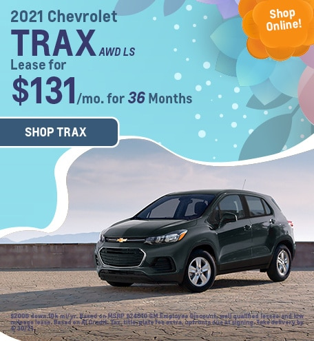 New 2021 Chevrolet Trax   Lease