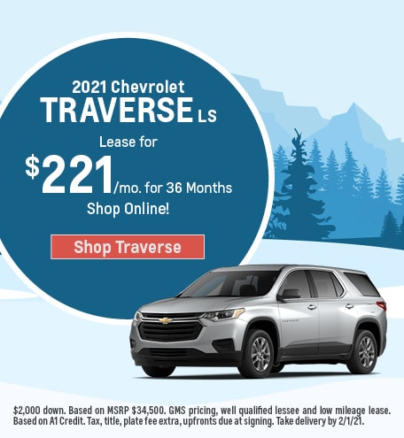 New 2021 Chevrolet Traverse | Lease