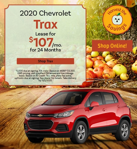 New 2020 Chevrolet Trax   Lease
