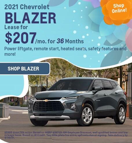 New 2021 Chevrolet Blazer   Lease
