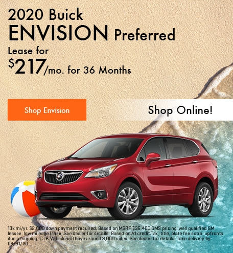 New 2020 Buick Envision | Lease