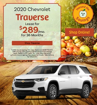 New 2020 Chevrolet Traverse | Lease