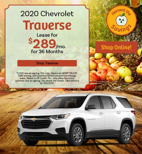 New 2020 Chevrolet Traverse   Lease