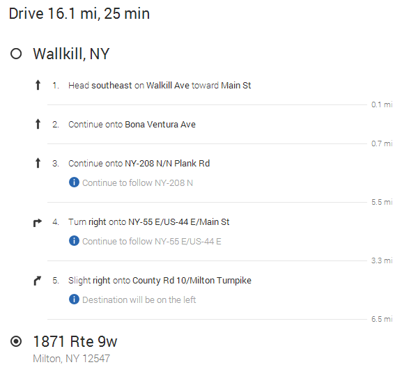 Listed Directions From Walkill to Youngs Motors.PNG