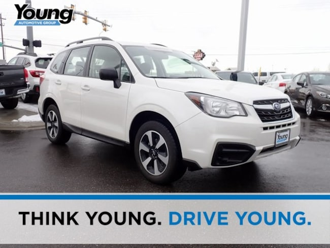 Certified 2018 Subaru Forester 2.5i SUV for sale in Ogden, UT at Young Subaru