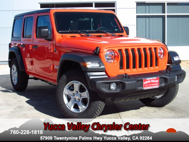New 2018 Jeep Wrangler UNLIMITED SPORT S 4X4 Sport Utility in Yucca Valley
