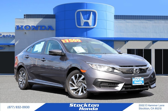 2016 Honda Civic EX Sedan for sale in Stockton CA at Stockton Honda