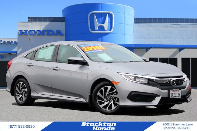 Certified Used 2018 Honda Civic EX DEALER LOANER for sale at Stockton Honda in Stockton, CA
