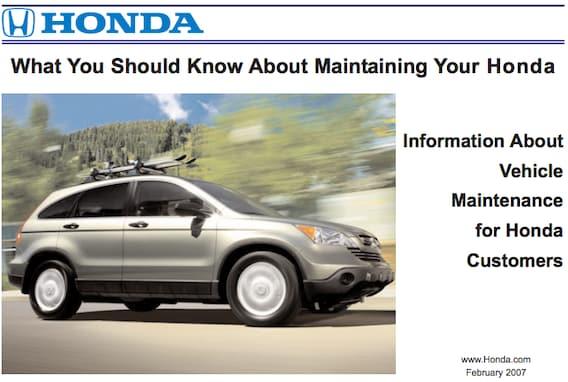 Owners Honda Com >> Owner Tips And Maintenance Stockton Honda