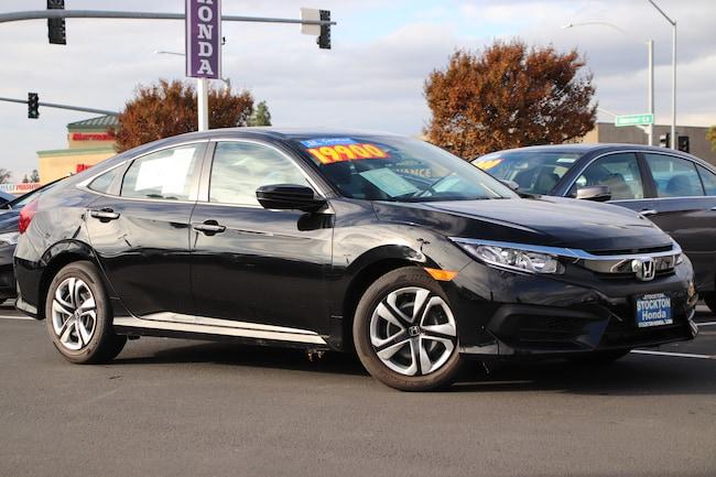 Certified Used 2018 Honda Civic LX Sedan for sale at Stockton Honda in Stockton, CA