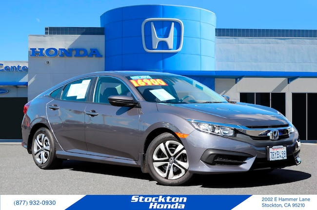 Certified Used 2016 Honda Civic LX Sedan for sale at Stockton Honda in Stockton, CA