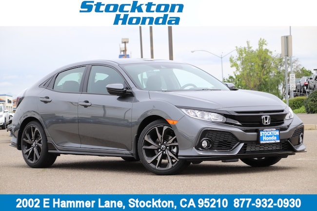 New 2019 Honda Civic Sport Hatchback for sale in Stockton, CA at Stockton Honda