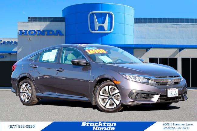 Certified Used 2016 Honda Civic LX Sedan for sale at Stockton Honda in Stockton, CA