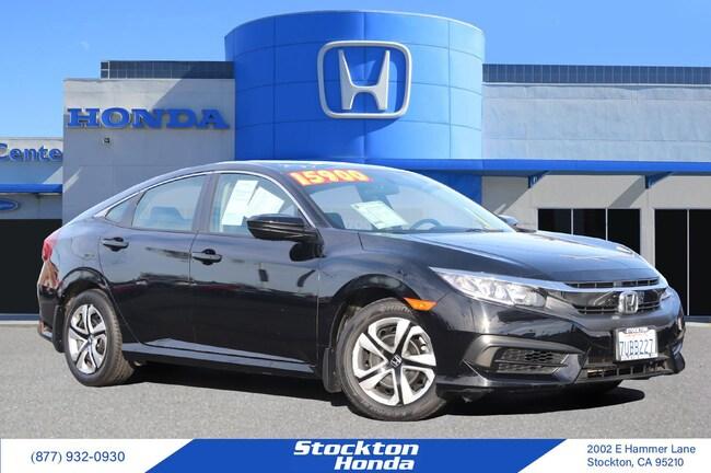 2016 Honda Civic LX Sedan for sale in Stockton CA at Stockton Honda