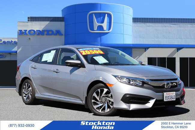 Certified Used 2018 Honda Civic EX Sedan for sale at Stockton Honda in Stockton, CA