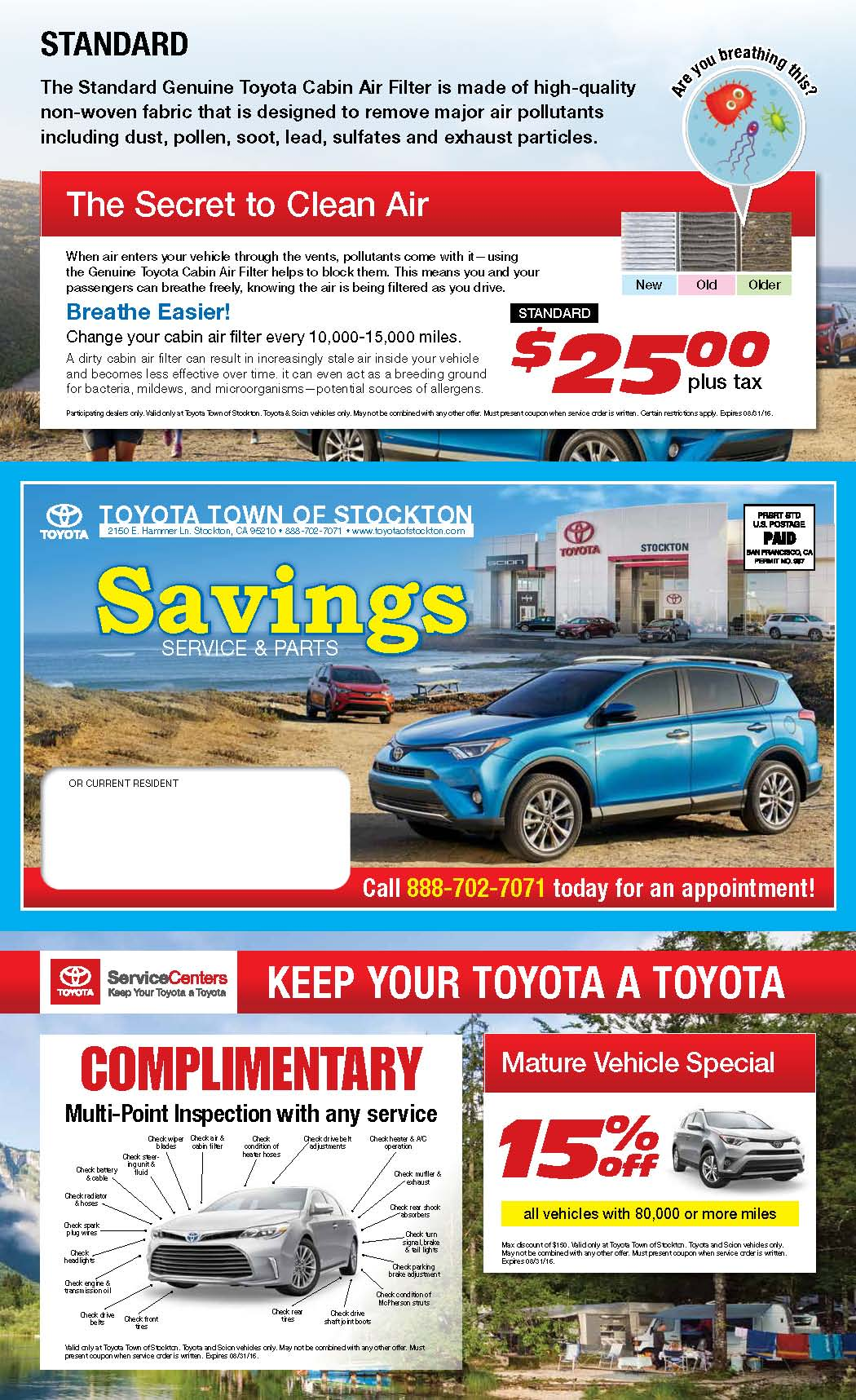 Toyota Town of Stockton Service and Parts Specials