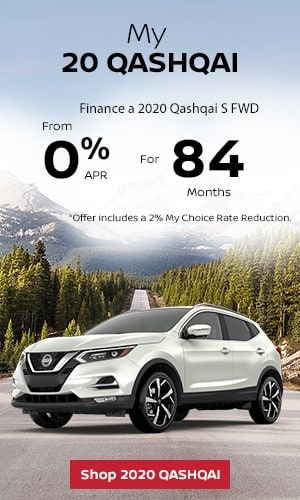 Finance a 2020 Qashqai S FWD from 0% APR for 84 months