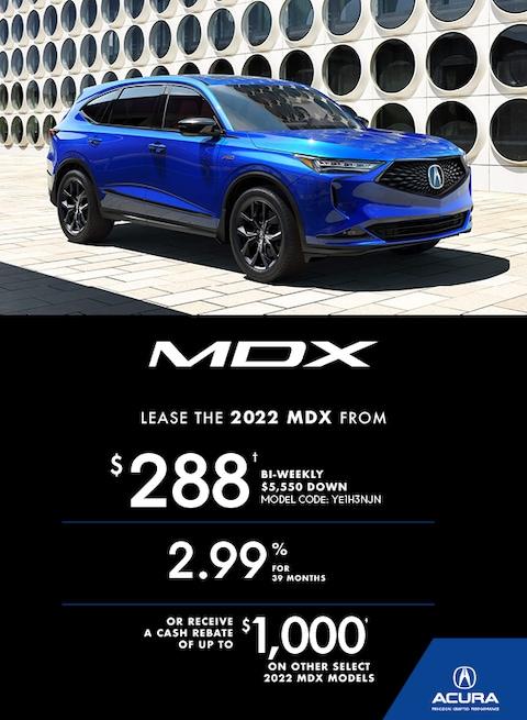 The 2022 MDX