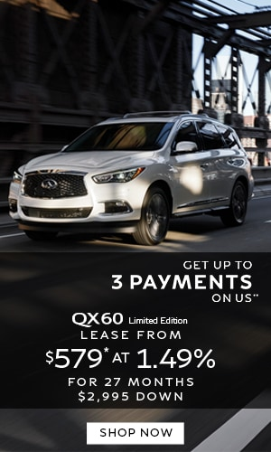 Lease a QX60 from $579* at 1.49%