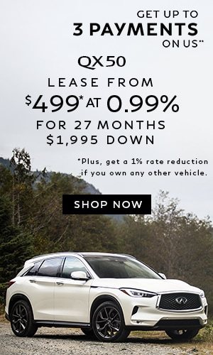Lease a QX50 from $499* at 0.99%