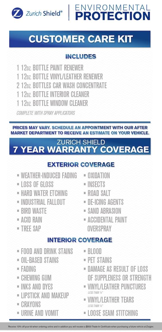 Car Shield Prices >> Zurich Shield Protection Zeigler Chrysler Dodge Jeep