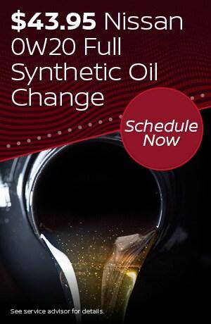 $43.95 Nissan 0W20 Full Synthetic Oil Change