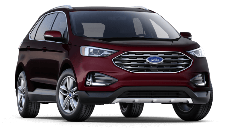 2019 Ford Edge SEL FWD in burgundy