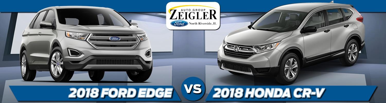 Ford Edge Vs  Honda Cr V Comparison In North Riverside Il