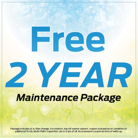 Free 2 Year Maintenance Package