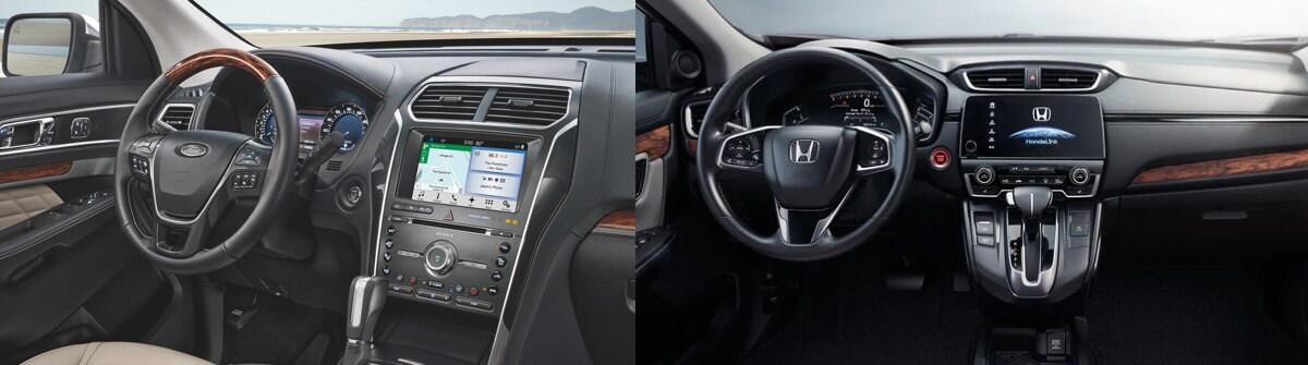 Ford Edge Vs  Honda Cr V Interior Cargo In North Riverside