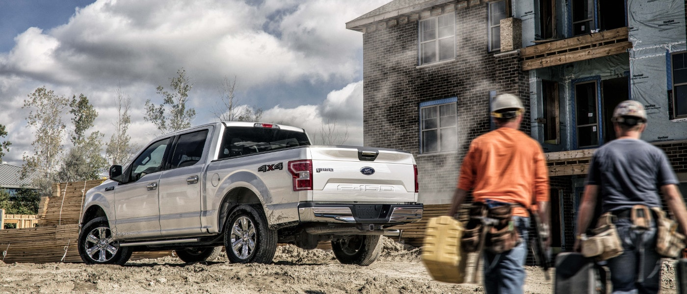White 2019 Ford F-150 XLT sideview