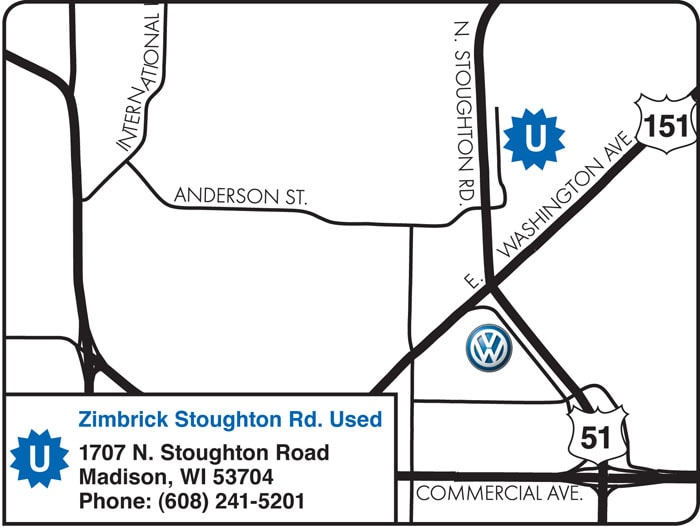 hours directions  zimbrick vw  madison wi sun prairie