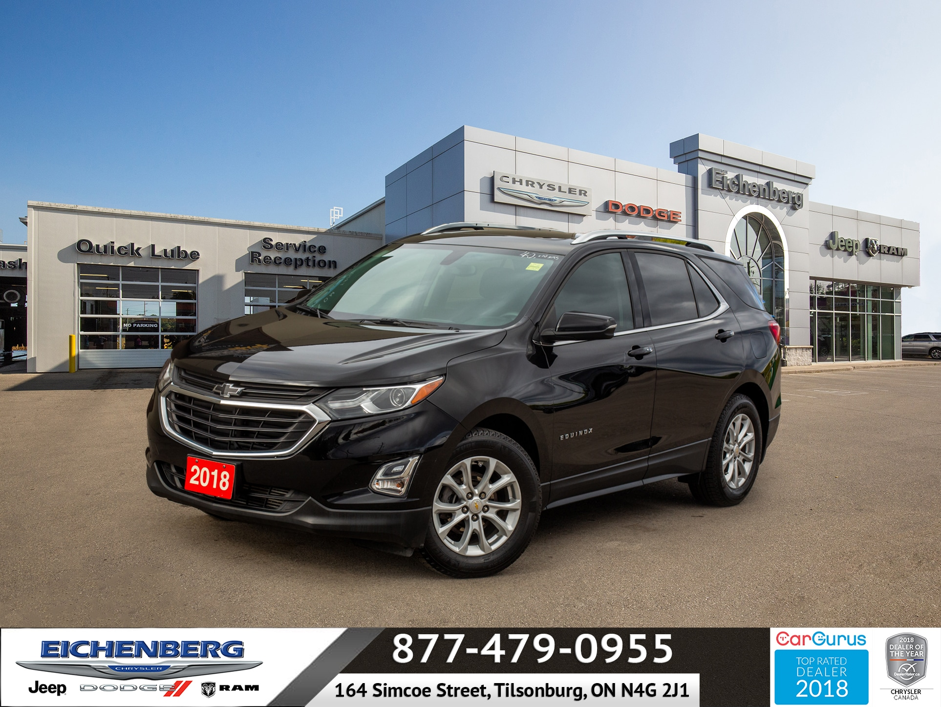 used 2018 Chevrolet Equinox car, priced at $20,999