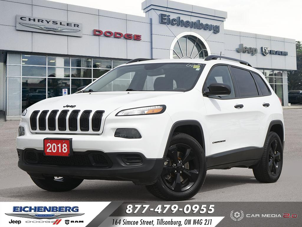 used 2018 Jeep Cherokee car, priced at $23,999