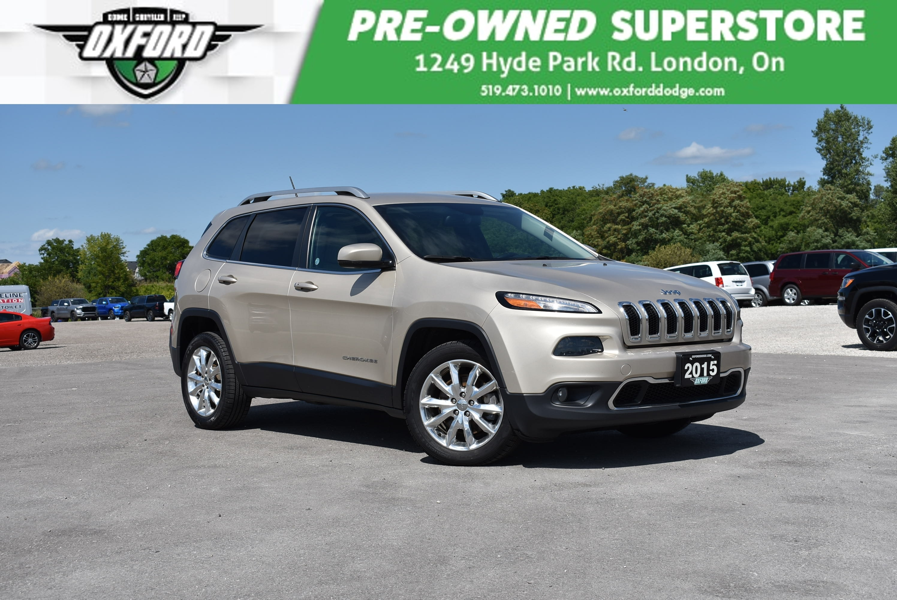 used 2015 Jeep Cherokee car, priced at $18,998