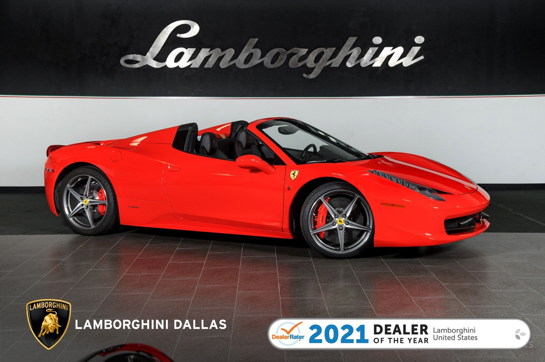 used 2014 Ferrari 458 Italia Spider car, priced at $204,999